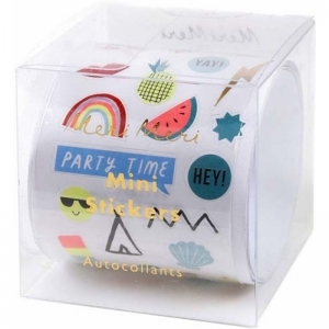 Assorted sticker roll logo