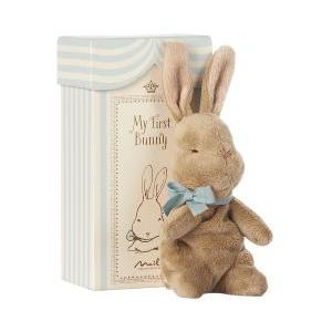 My first Bunny in box blue logo