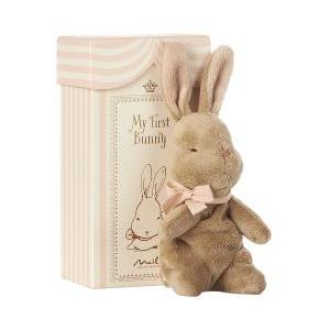 My first Bunny in box rose logo