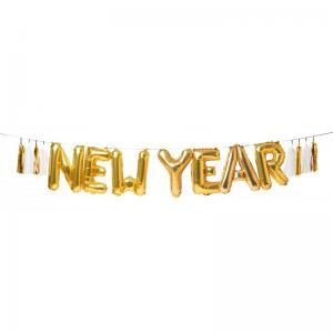 New year balloon garland logo