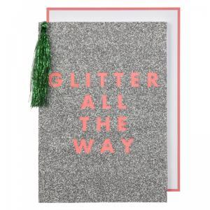 Glitter all the way card logo