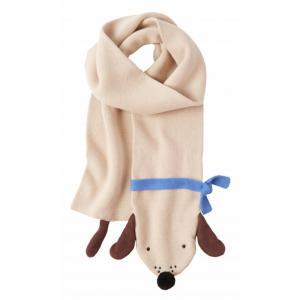 Knitted puppy scarf logo