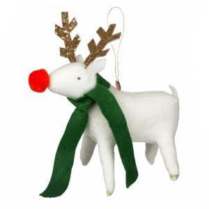 Reindeer felt tree decoration logo