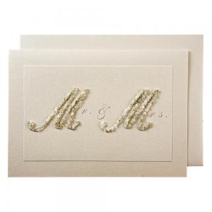 Beaded Mr & Mrs card logo