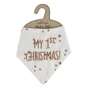 My first christmas baby bib logo