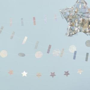 Holographic mixed pack garland logo