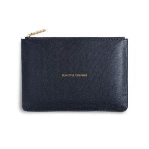 Pouch beautiful dreamer blue  logo