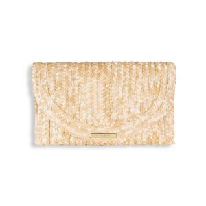 Straw natural clutch logo