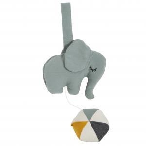Elephant music mobile grey logo