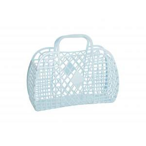 Retro basket large blue logo