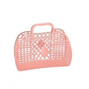 Retro basket large peach logo