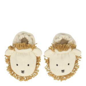 Lion baby booties logo
