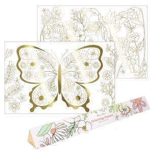 Butterfly coloring posters logo