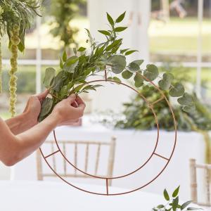 Hanging chandelier hoops logo