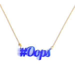 Ketting Oops recycled plastic  logo