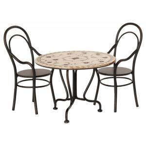 Dinning table with 2 chairs logo