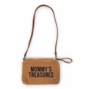 Mommy clutch teddy beige logo
