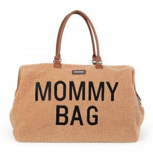 Mommy bag groot teddy beige logo