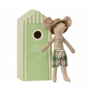 Beach mouse dad in cabin logo